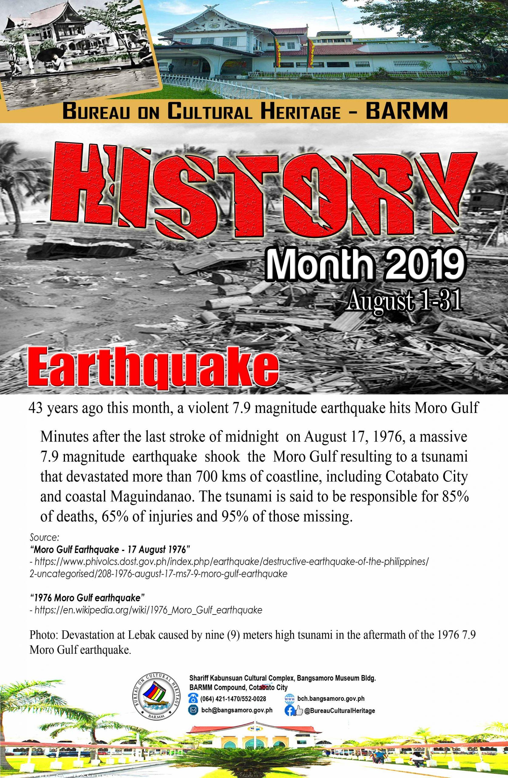 History Month August 2019 Maguindanao Earthquake