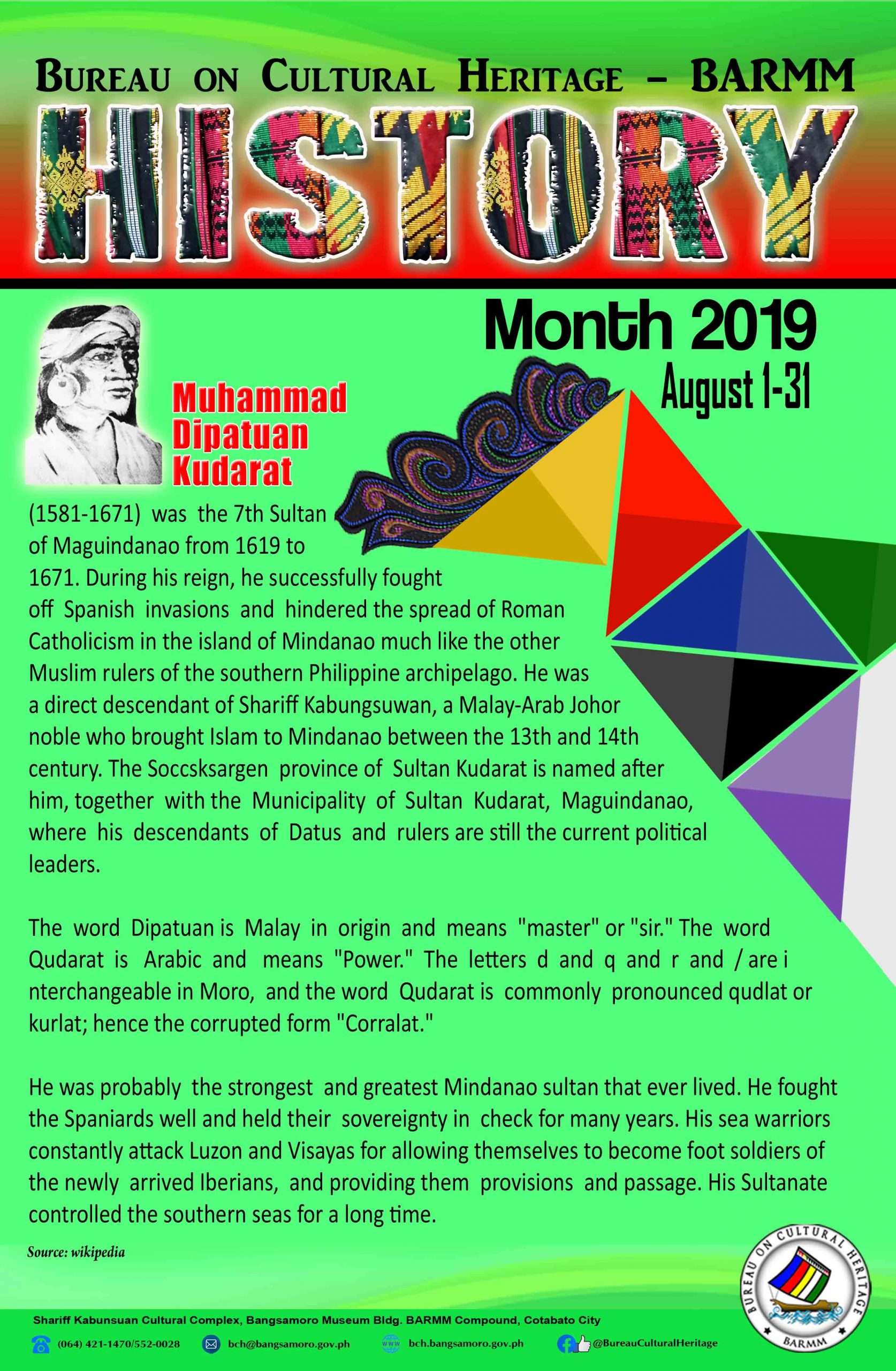 History Month August 2019 Maguindanao