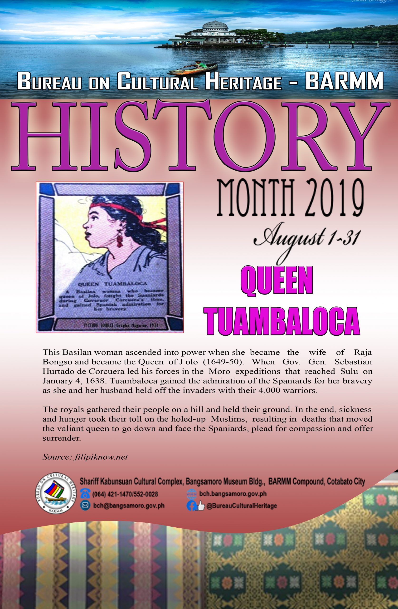 History Month August 2019 Queen Tuambaluca