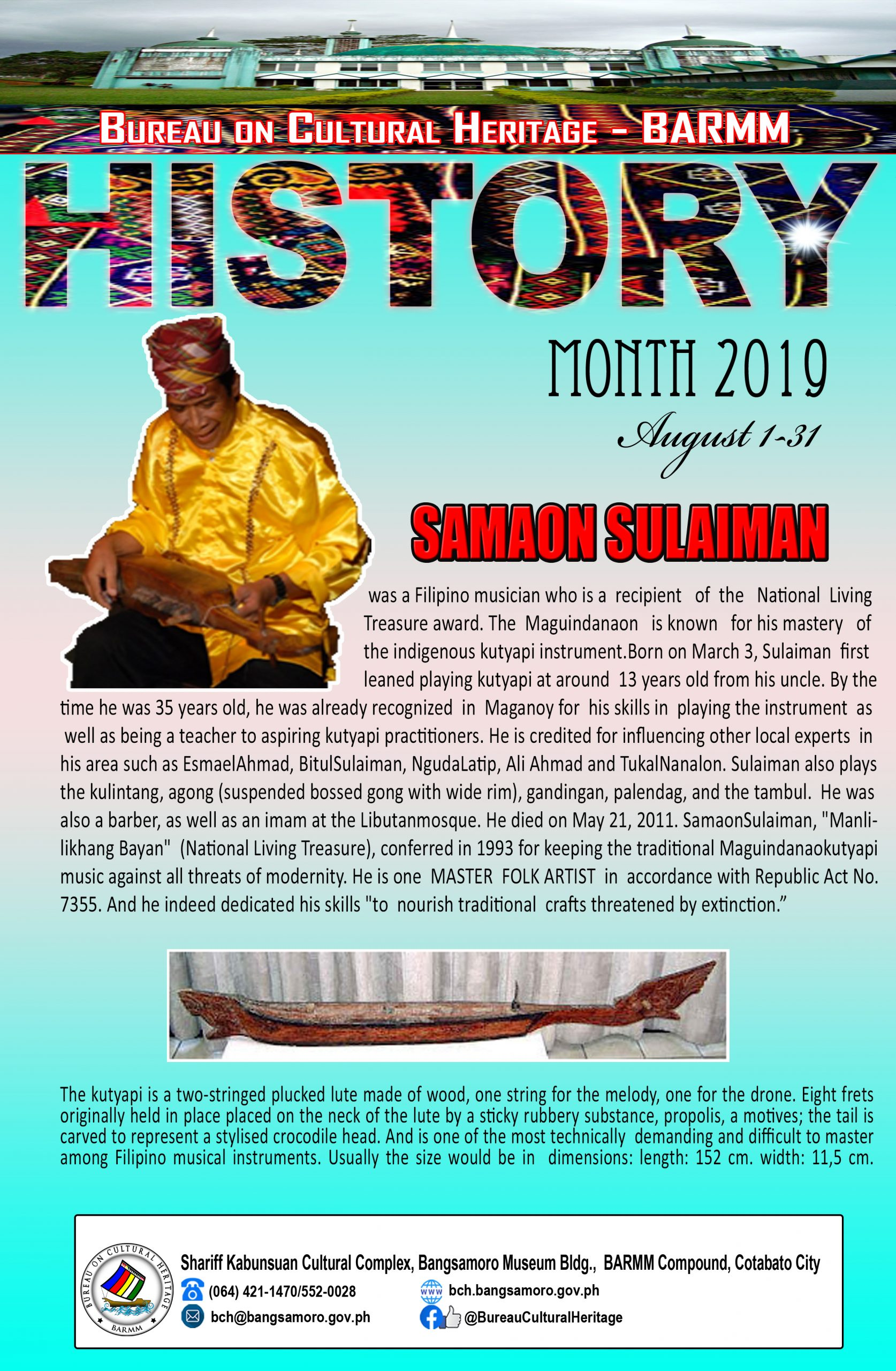 History Month August 2019 Samaon Sulaiman