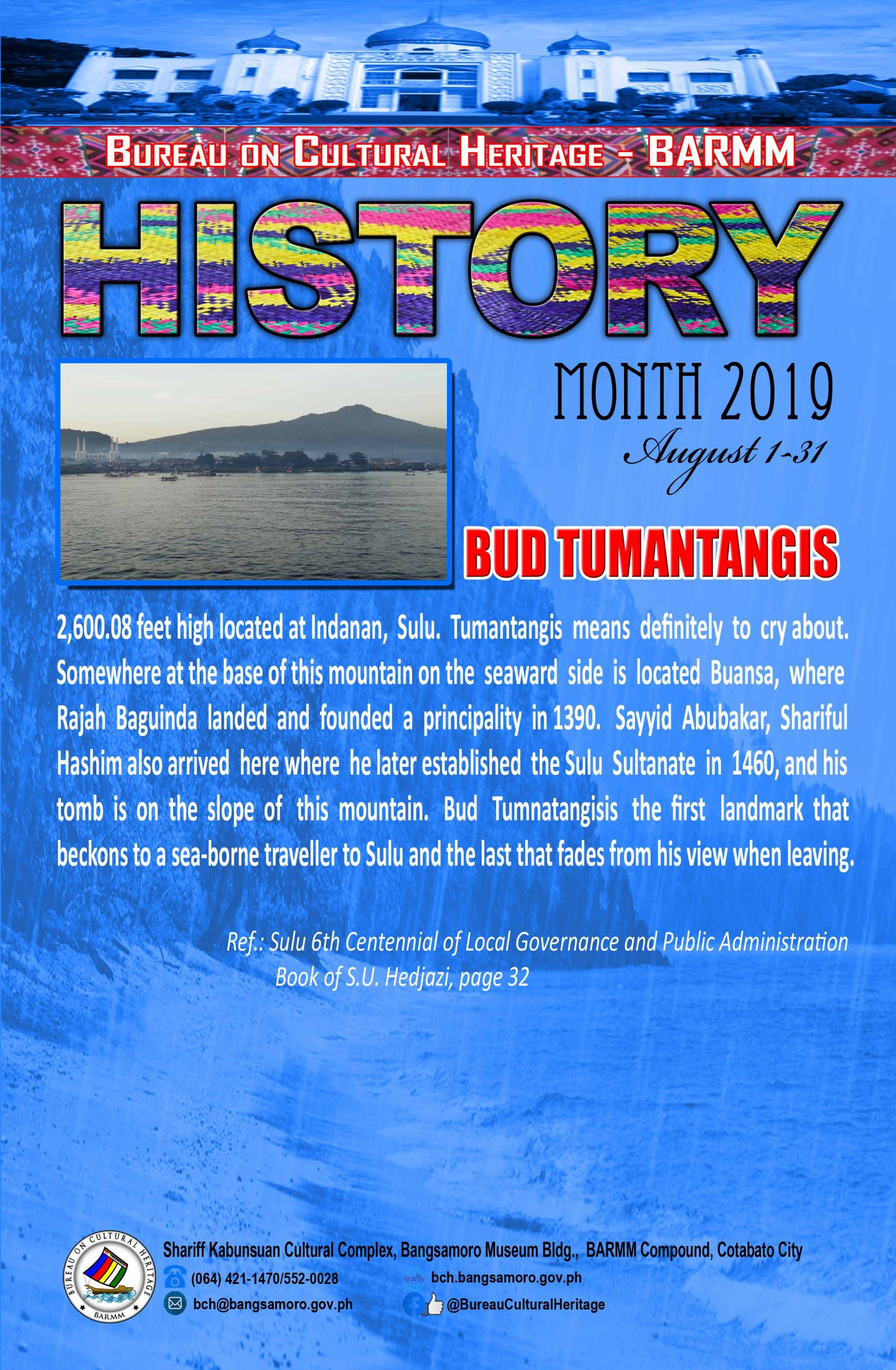 History Month August 2019 Sulu Bud Tumantangis