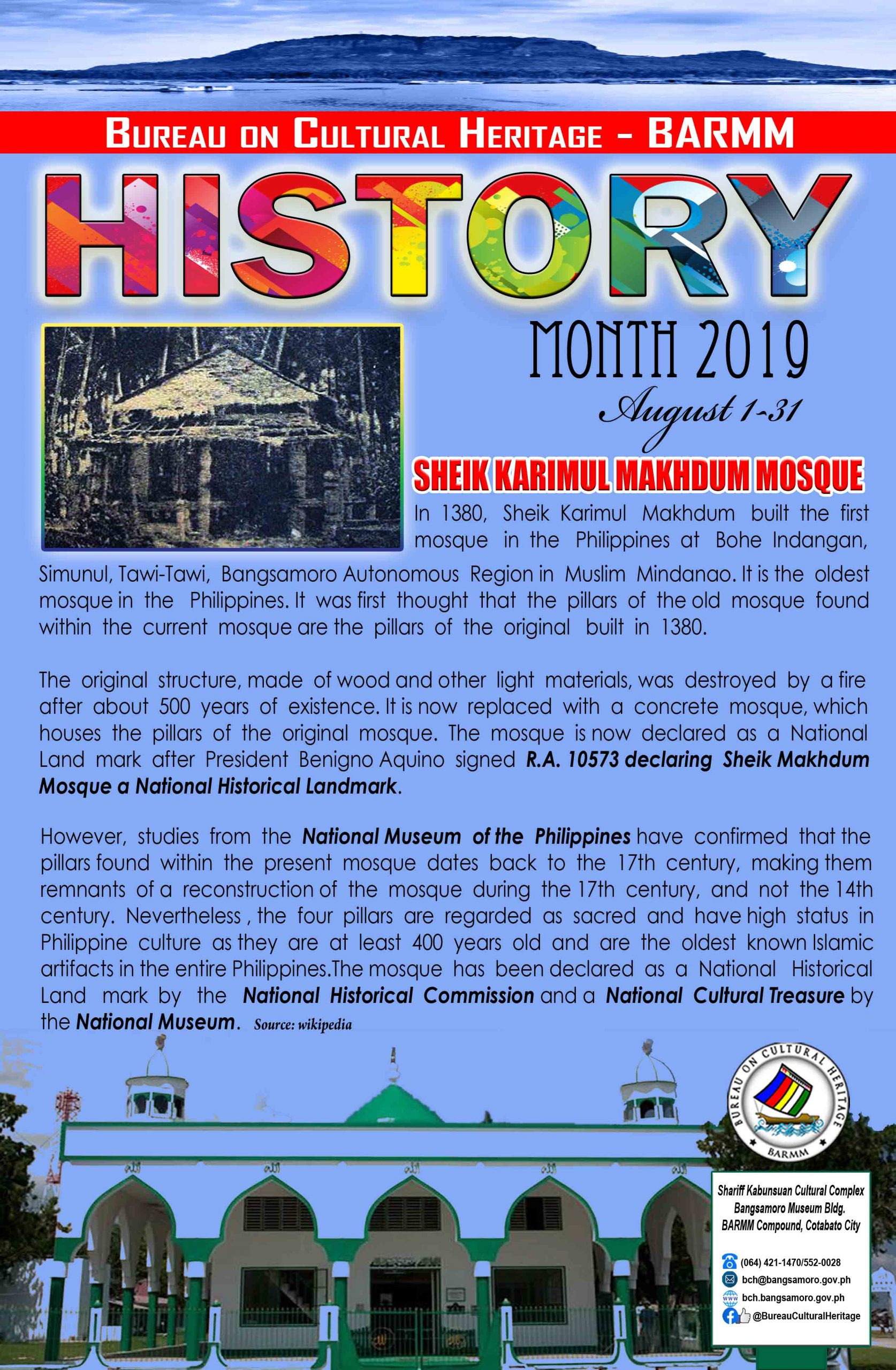 History Month August 2019 Tawi-Tawi